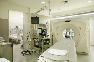 Medical and Surgical Oncology computed axial tomography hospital room equipped o 7S9DK8R